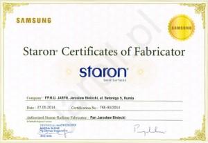 certyfikat-staron